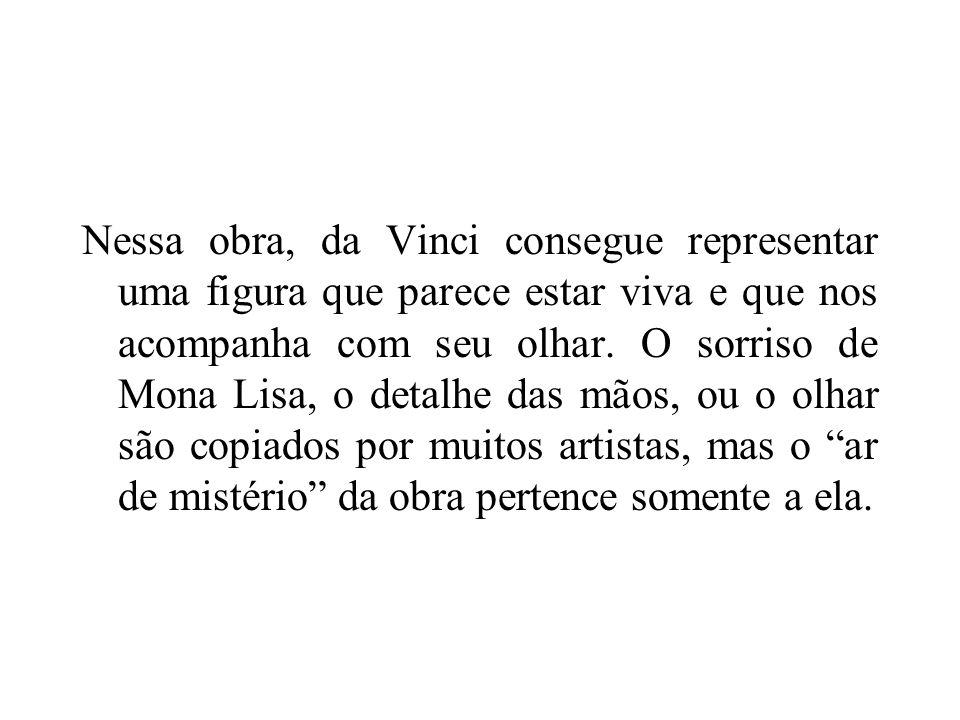 Mona Lisa – Detalhe do Rosto. Leonardo da Vinci.