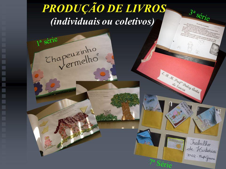 PRODUÇÃO DE LIVROS (individuais ou coletivos) 1ª série 3ª série 7ª Série