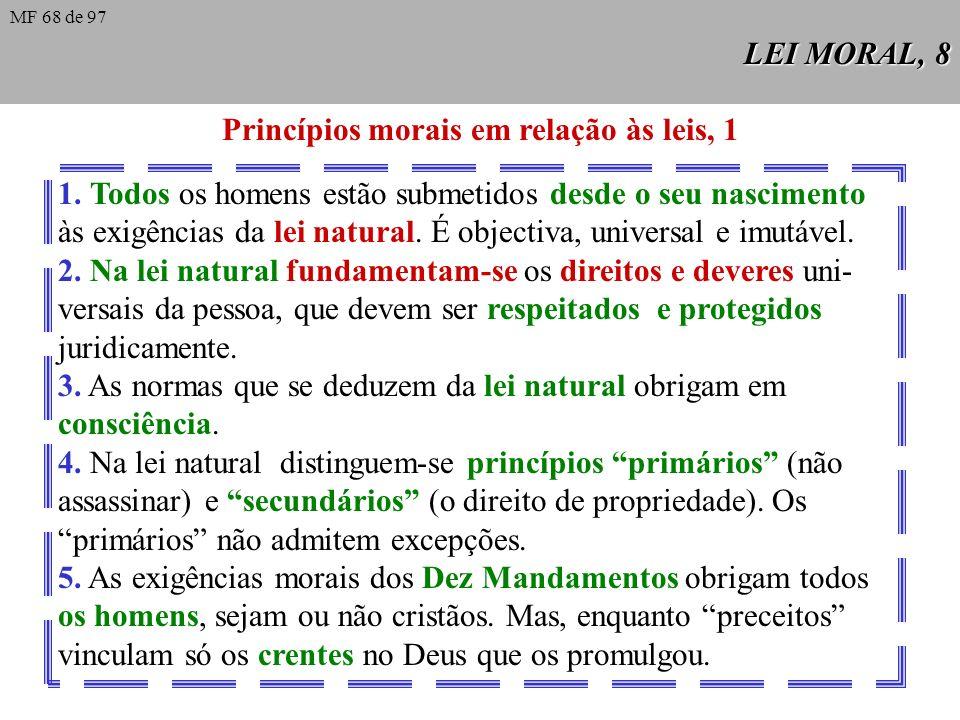 LEI MORAL, 7 Lei nova A nova lei consiste principalmente na graça do Espírito Santo, que nos chega através de Cristo, e nos move a actuar segundo a lu