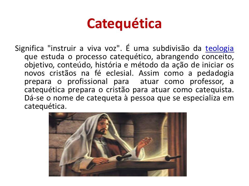 RECORDANDO Catequese é profecia.