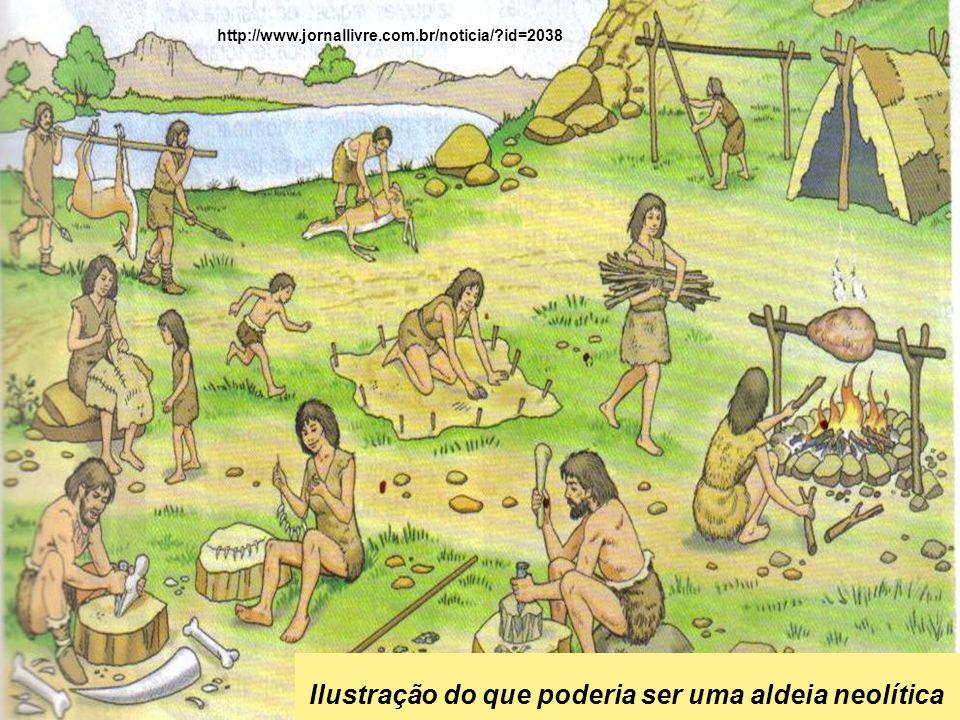 Ilustração do que poderia ser uma aldeia neolítica http://www.jornallivre.com.br/noticia/?id=2038
