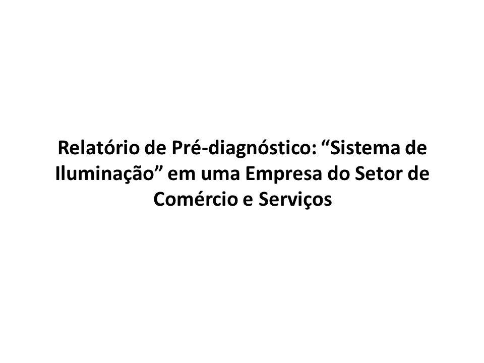 Relatório de Pré-diagnóstico: Sistema de Iluminação em uma Empresa do Setor de Comércio e Serviços