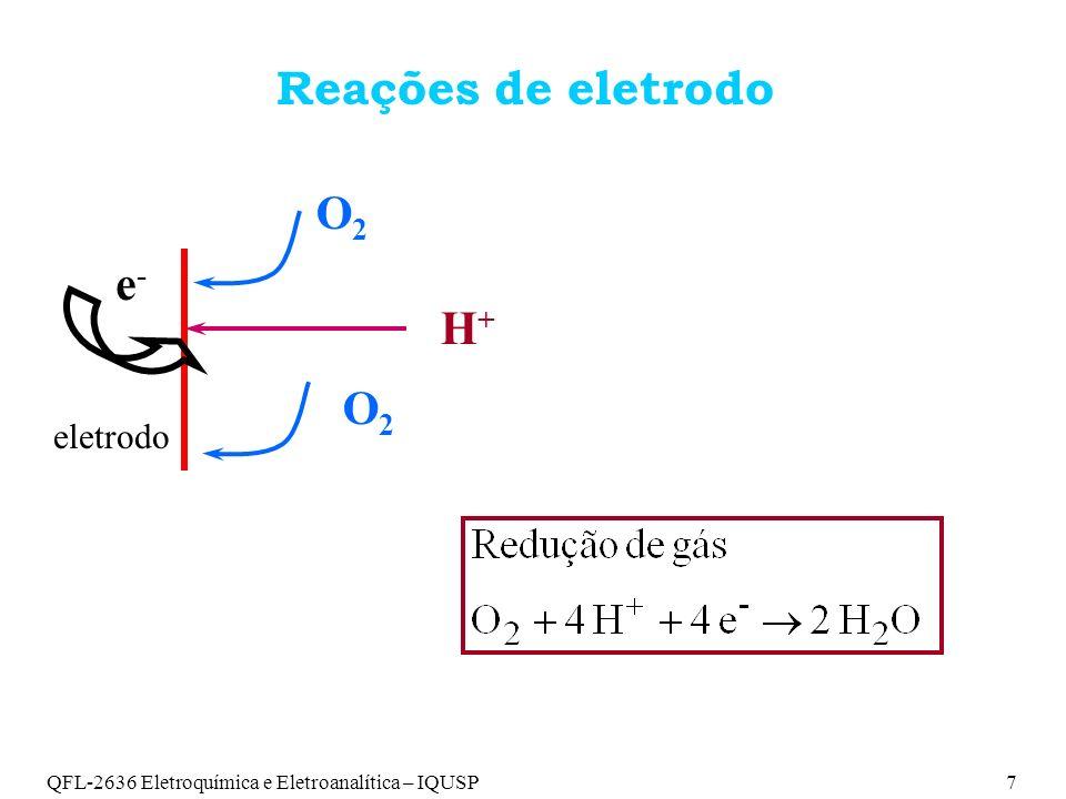 QFL-2636 Eletroquímica e Eletroanalítica – IQUSP8 Arranjo experimental