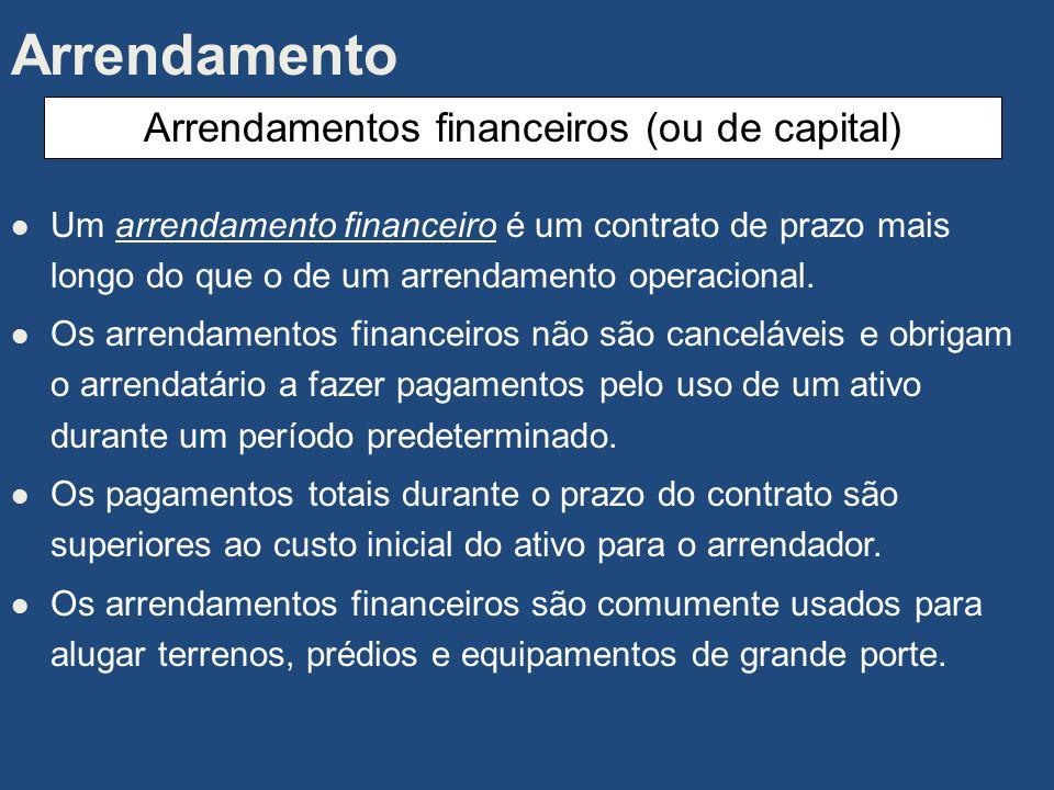 Um arrendamento operacional é um acordo cancelável pelo qual o arrendatário concorda em fazer pagamentos periódicos ao arrendador, geralmente por cinc