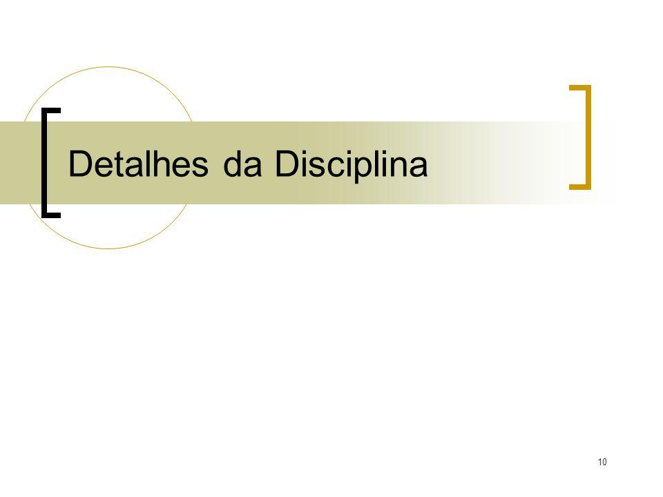 Detalhes da Disciplina 10