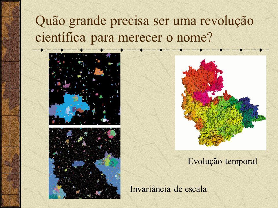 Quão grande precisa ser uma revolução científica para merecer o nome? Evolução temporal Invariância de escala