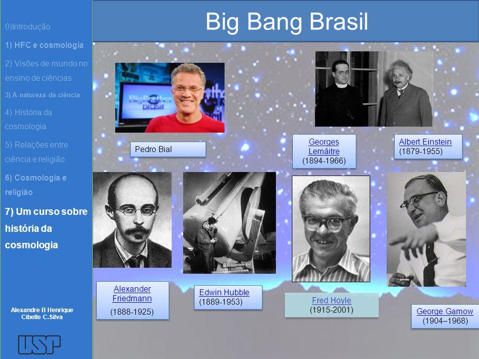 Big Bang Brasil Pedro Bial Edwin Hubble (1889-1953) Edwin Hubble (1889-1953) Albert Einstein (1879-1955) Albert Einstein (1879-1955) Alexander Friedma