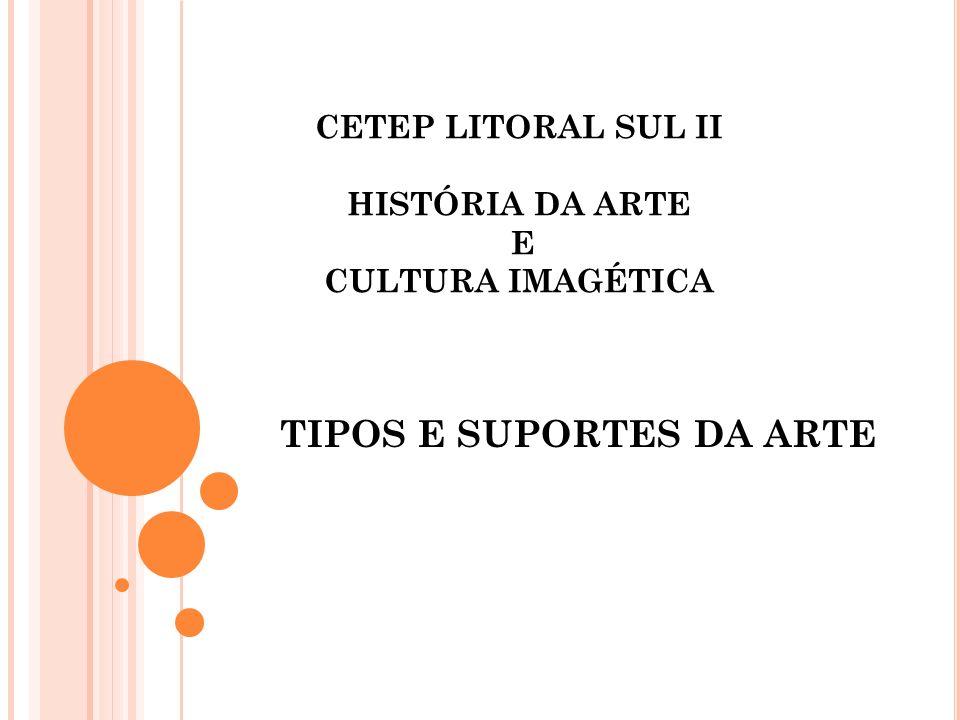 CETEP LITORAL SUL II HISTÓRIA DA ARTE E CULTURA IMAGÉTICA TIPOS E SUPORTES DA ARTE