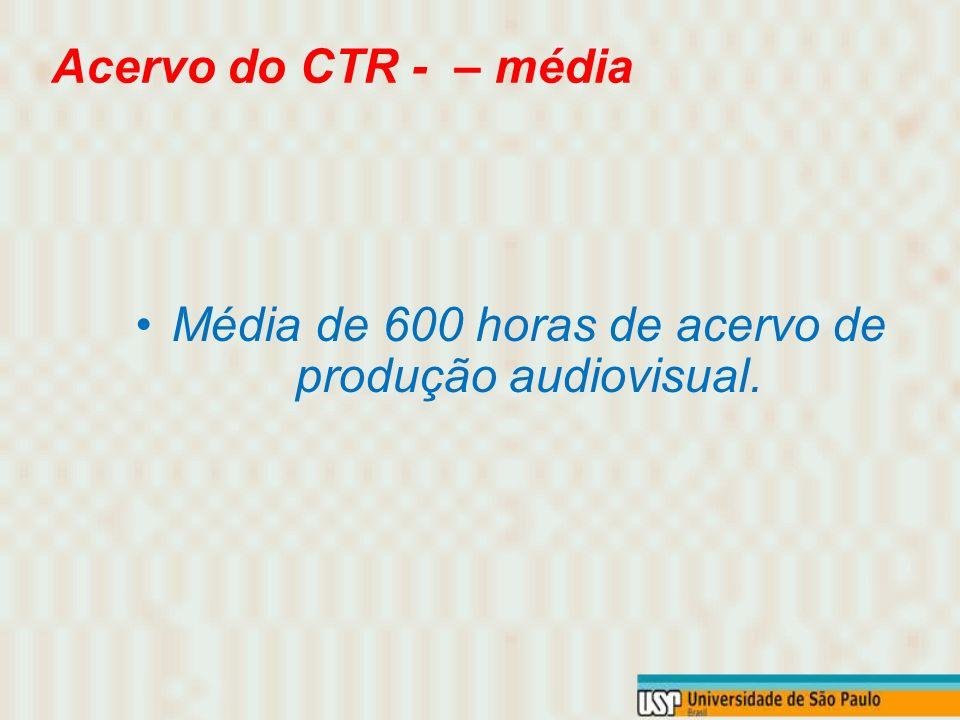 Produção Anual do CTR TCC: de 6 a 7 filmes em película e digital, ficção e documentários; Exercícios Direção III: de 08 a 10, em película e vídeo digi