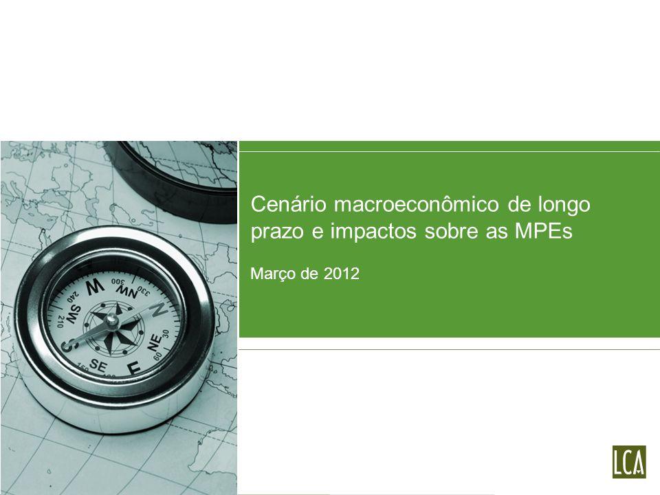 Cenário econômico internacional Perspectivas de longo prazo e impactos sobre as MPEs