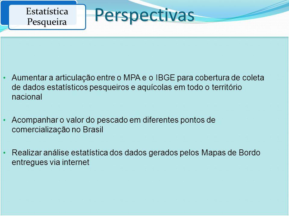 Aumentar a articulação entre o MPA e o IBGE para cobertura de coleta de dados estatísticos pesqueiros e aquícolas em todo o território nacional Acompa