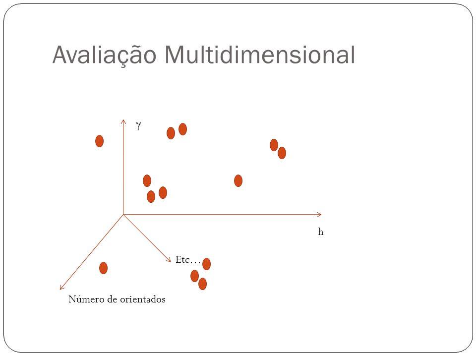 Avaliação Multidimensional h γ Número de orientados Etc…