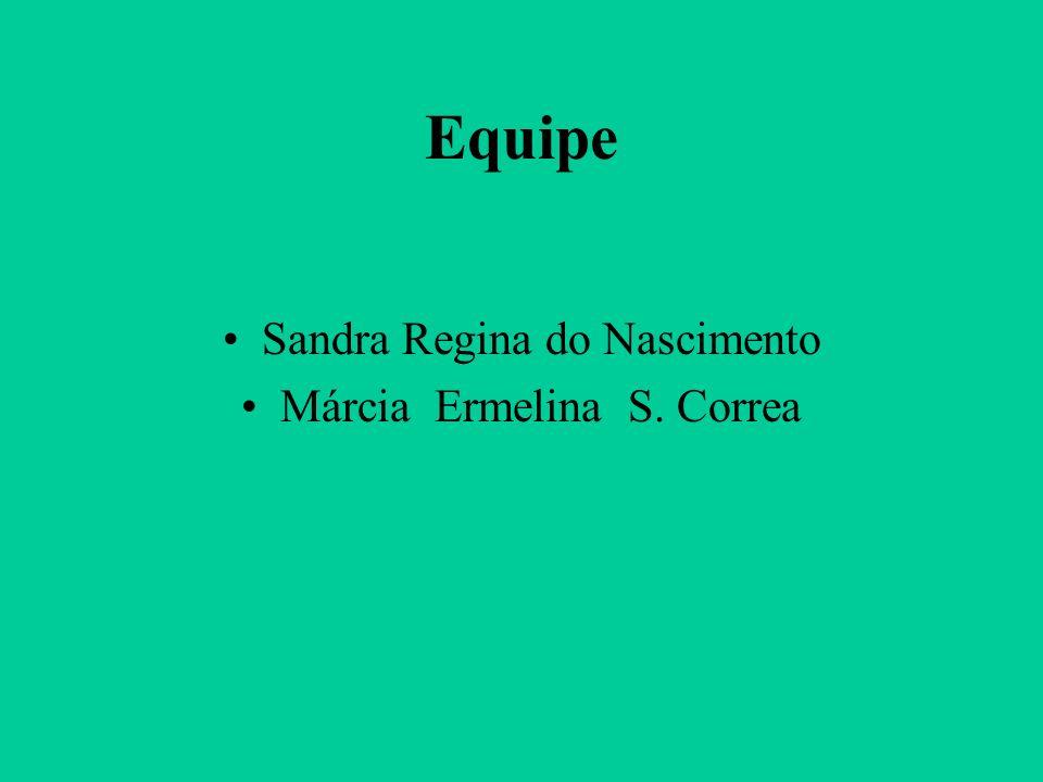 Equipe Sandra Regina do Nascimento Márcia Ermelina S. Correa