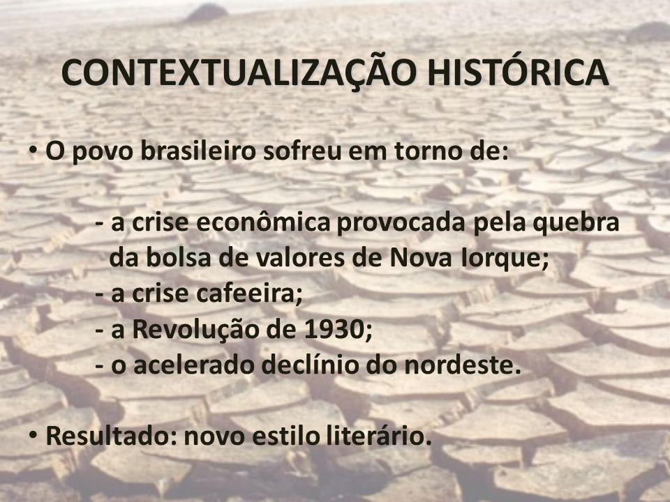 CONTEXTUALIZAÇÃO HISTÓRICA O povo brasileiro sofreu em torno de: - a crise econômica provocada pela quebra da bolsa de valores de Nova Iorque; - a cri