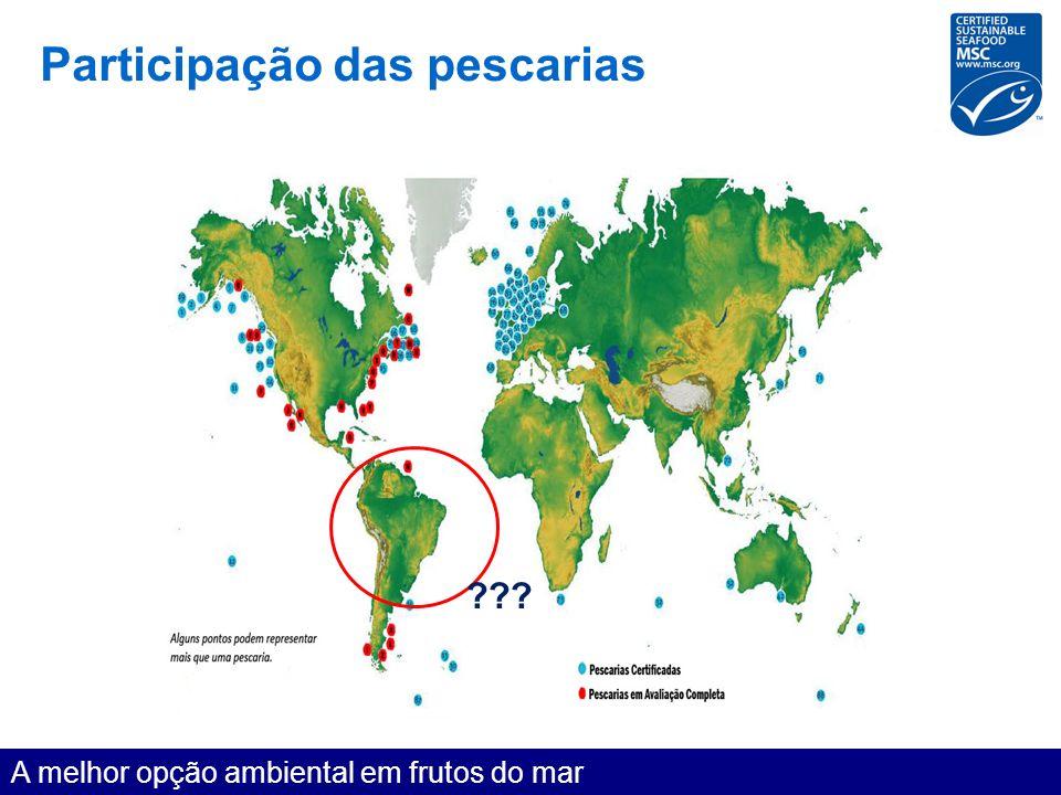 Participação das pescarias A melhor opção ambiental em frutos do mar ???