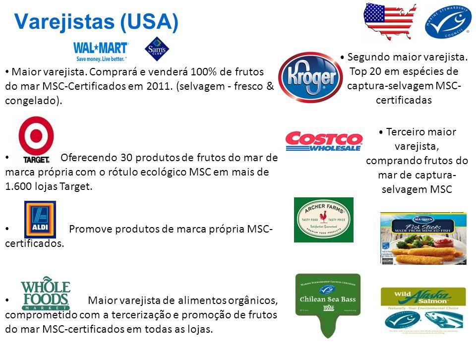 Maior varejista. Comprará e venderá 100% de frutos do mar MSC-Certificados em 2011. (selvagem - fresco & congelado). Oferecendo 30 produtos de frutos