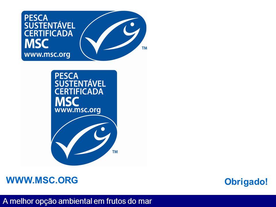 WWW.MSC.ORG Obrigado! A melhor opção ambiental em frutos do mar