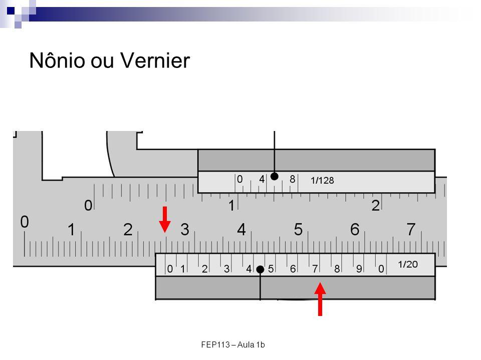 FEP113 – Aula 1b Nônio ou Vernier