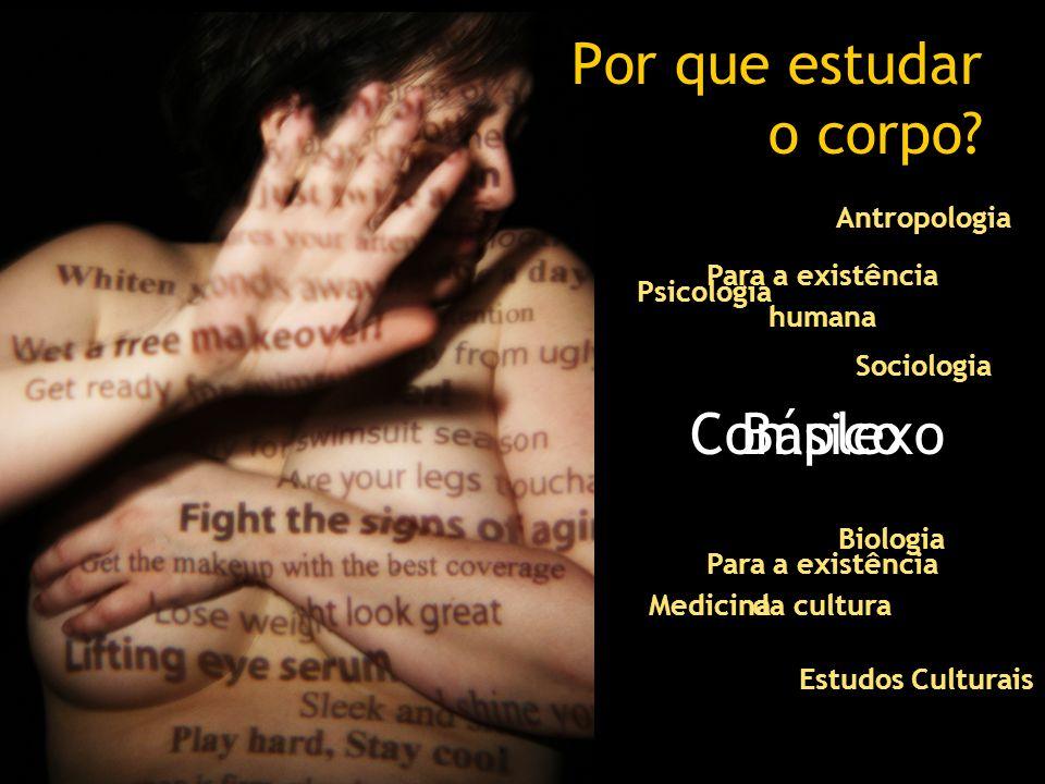 Por que estudar o corpo? Complexo Estudos Culturais Biologia Psicologia Sociologia Medicina Antropologia Básico Para a existência humana Para a existê