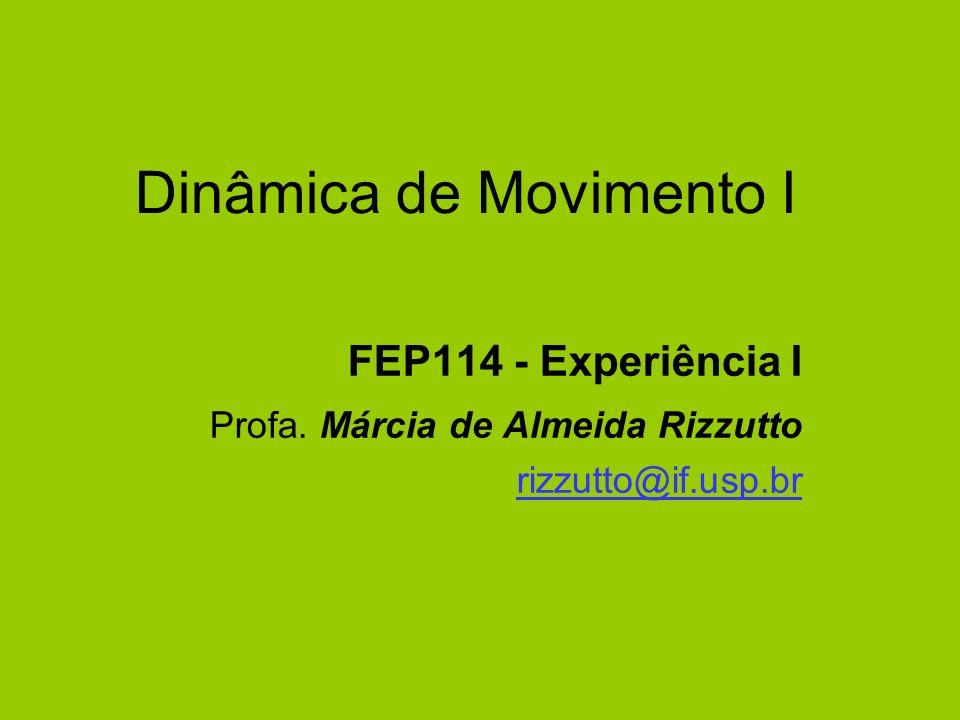 Dinâmica de Movimento I FEP114 - Experiência I Profa. Márcia de Almeida Rizzutto rizzutto@if.usp.br