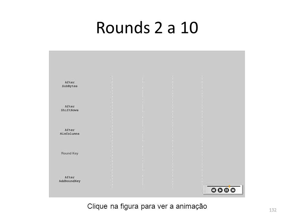 Rounds 2 a 10 132 Clique na figura para ver a animação