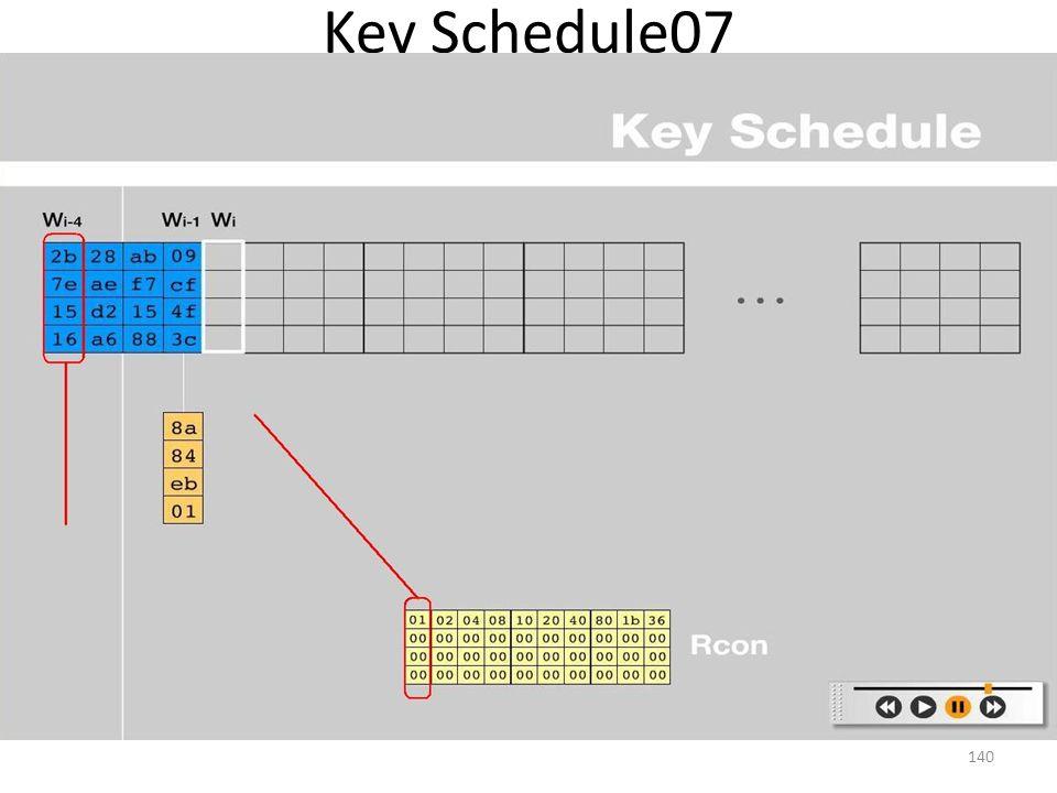 Key Schedule07 140