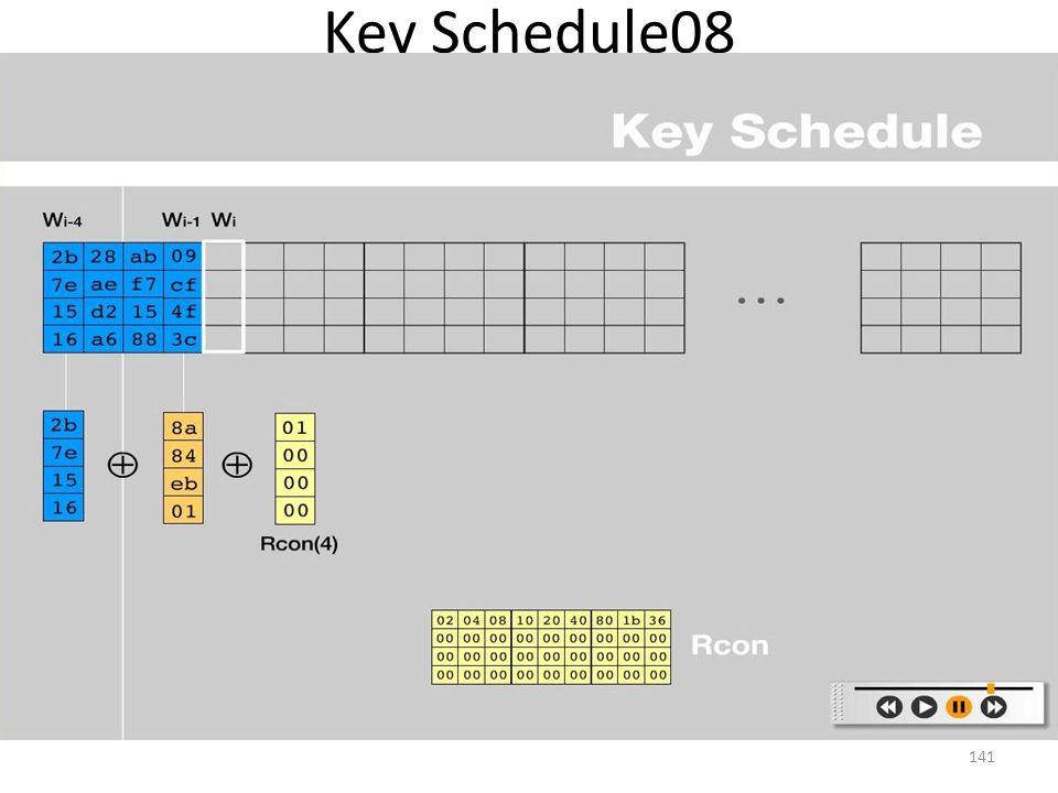 Key Schedule08 141