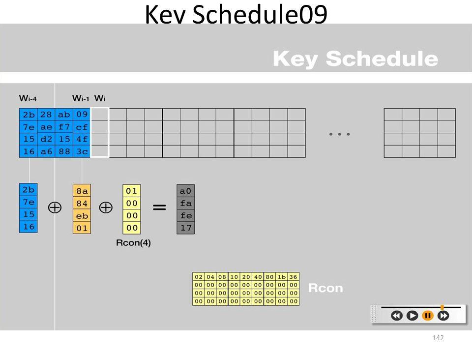 Key Schedule09 142