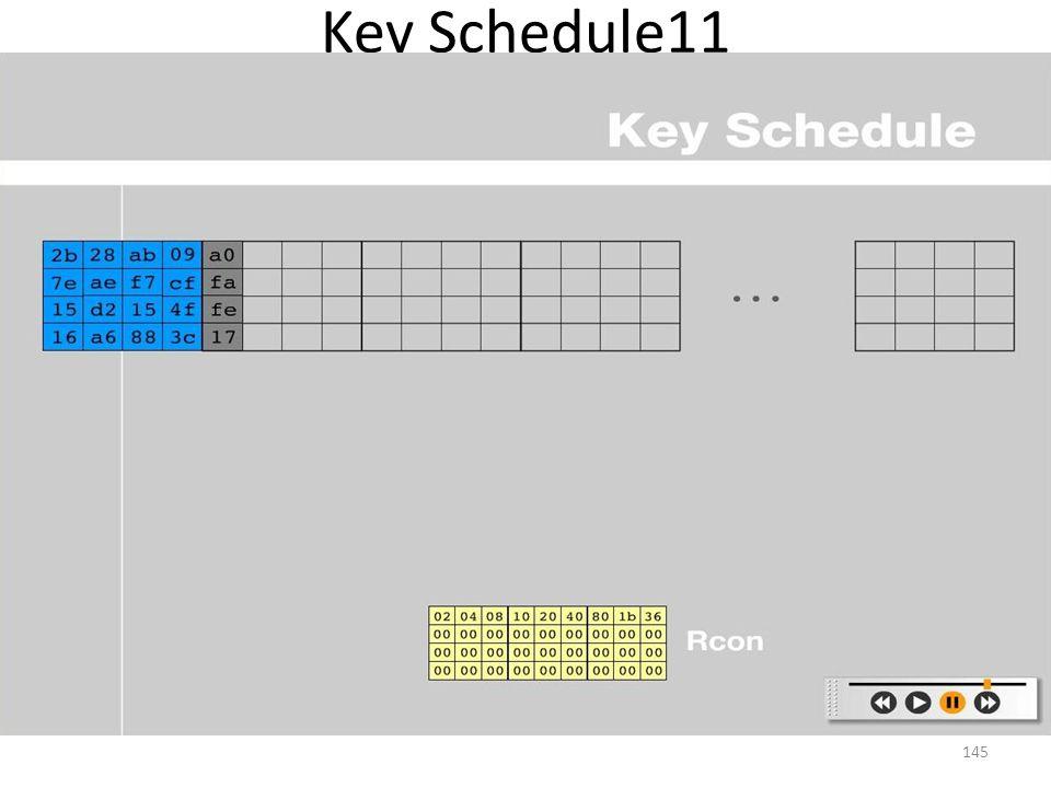 Key Schedule11 145