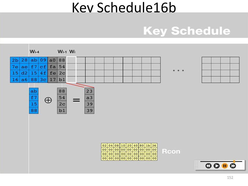 Key Schedule16b 152