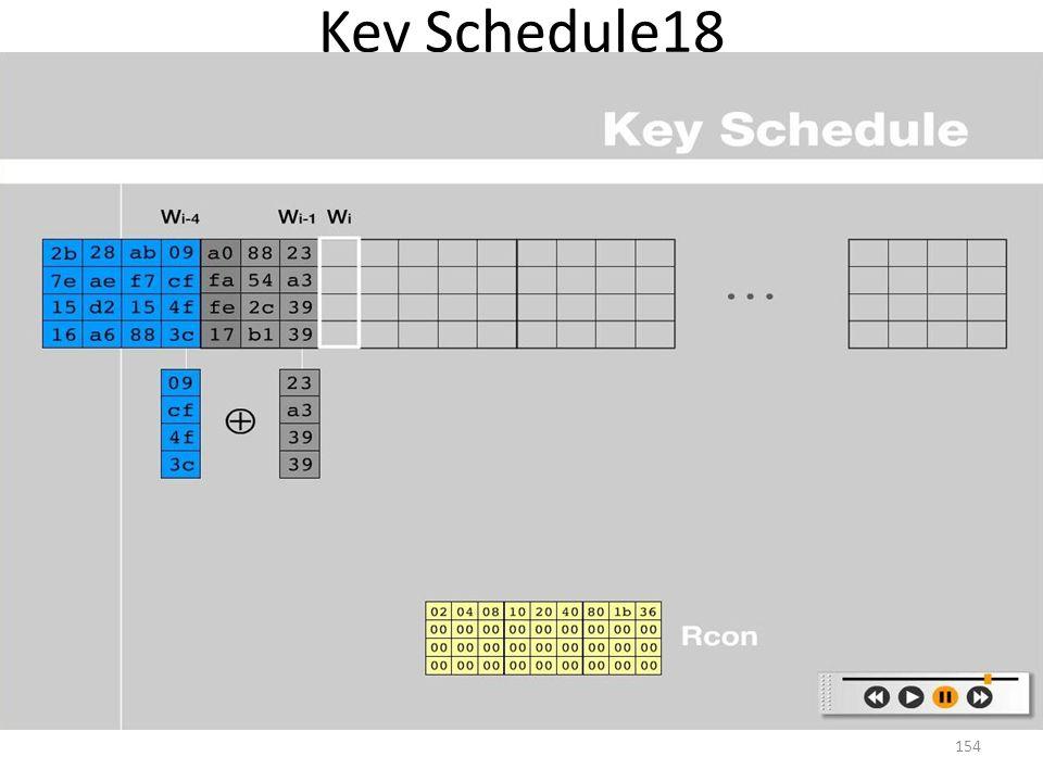 Key Schedule18 154