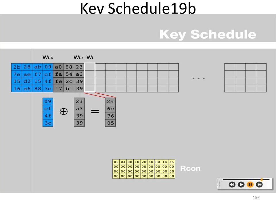 Key Schedule19b 156