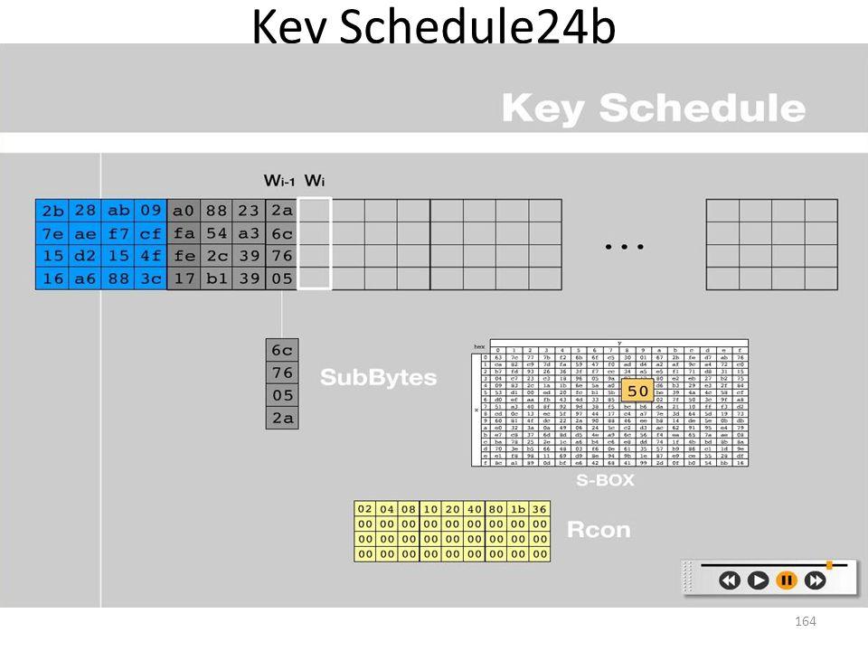 Key Schedule24b 164