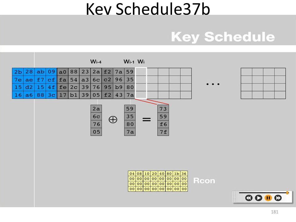 Key Schedule37b 181