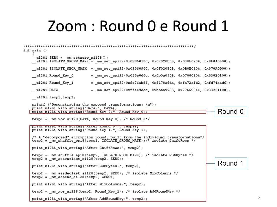 Zoom : Round 0 e Round 1 208 Round 0 Round 1