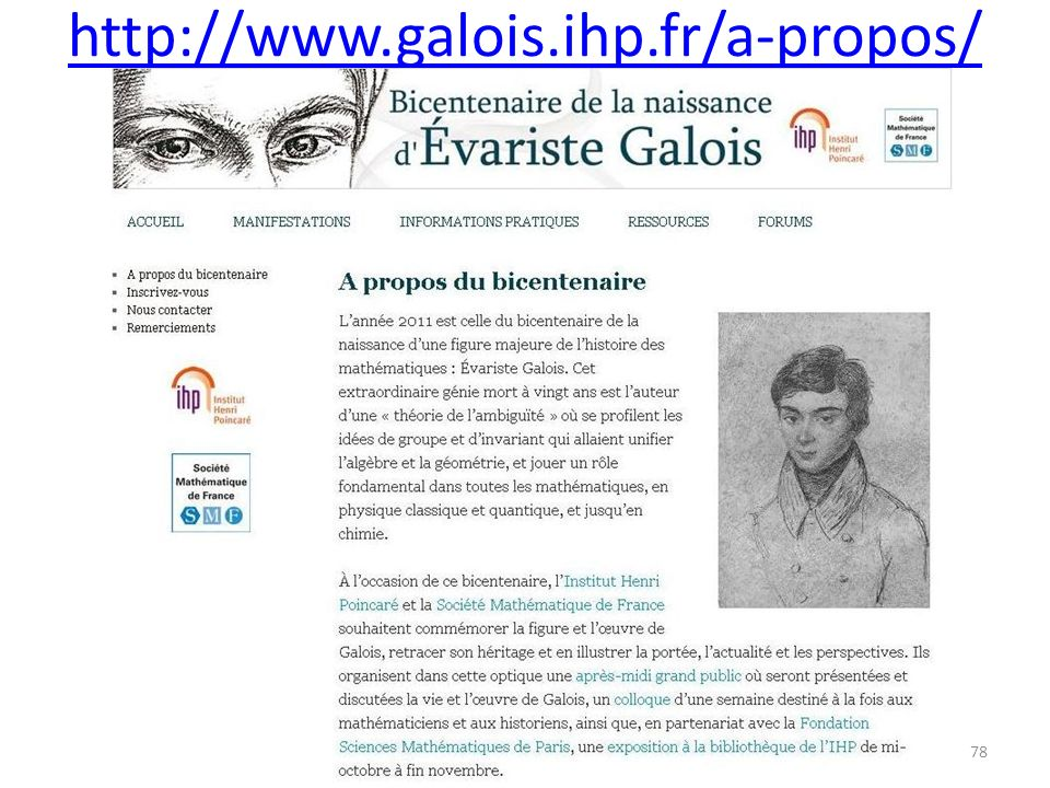 http://www.galois.ihp.fr/a-propos/ 78