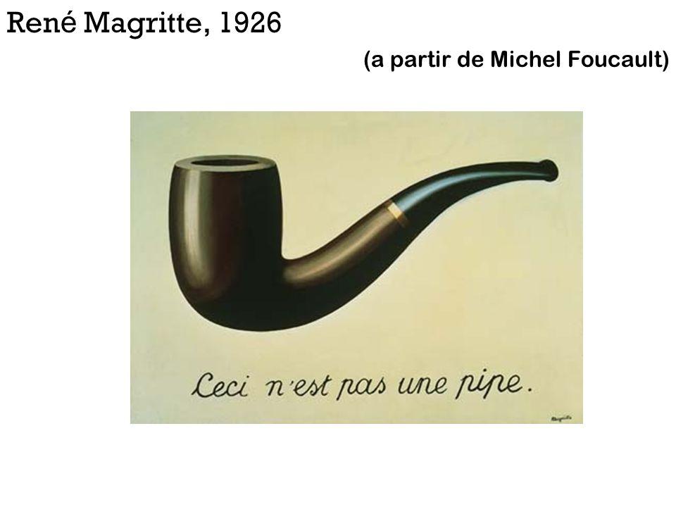 Ren é Magritte, 1926 (a partir de Michel Foucault)