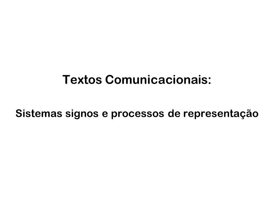 Textos Comunicacionais: Sistemas signos e processos de representação