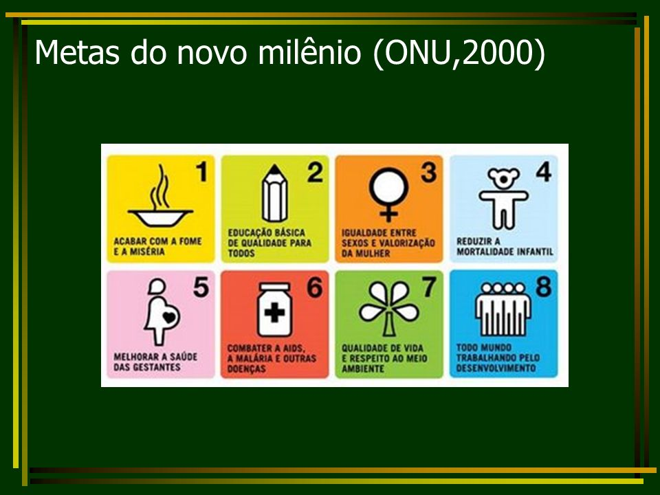 Metas do novo milênio (ONU,2000)