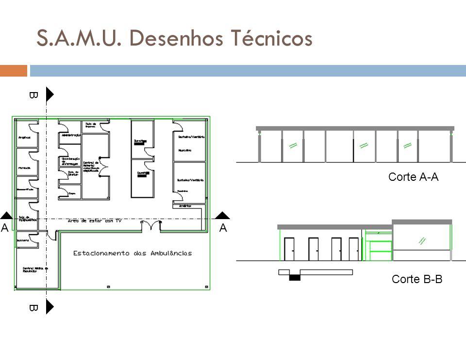 S.A.M.U. Desenhos Técnicos B B Corte A-A Corte B-B AA