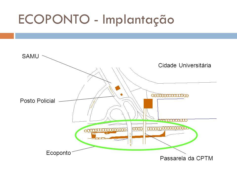 ECOPONTO - Implantação SAMU Posto Policial Cidade Universitária Ecoponto Passarela da CPTM