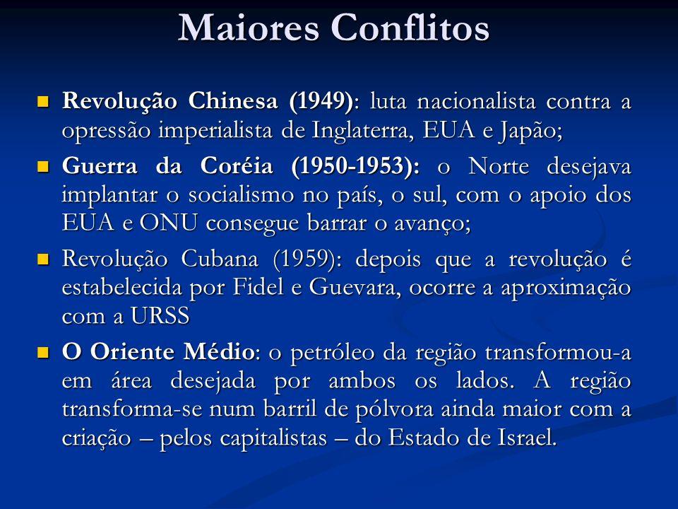 Maiores Conflitos Revolução Chinesa (1949): luta nacionalista contra a opressão imperialista de Inglaterra, EUA e Japão; Revolução Chinesa (1949): lut