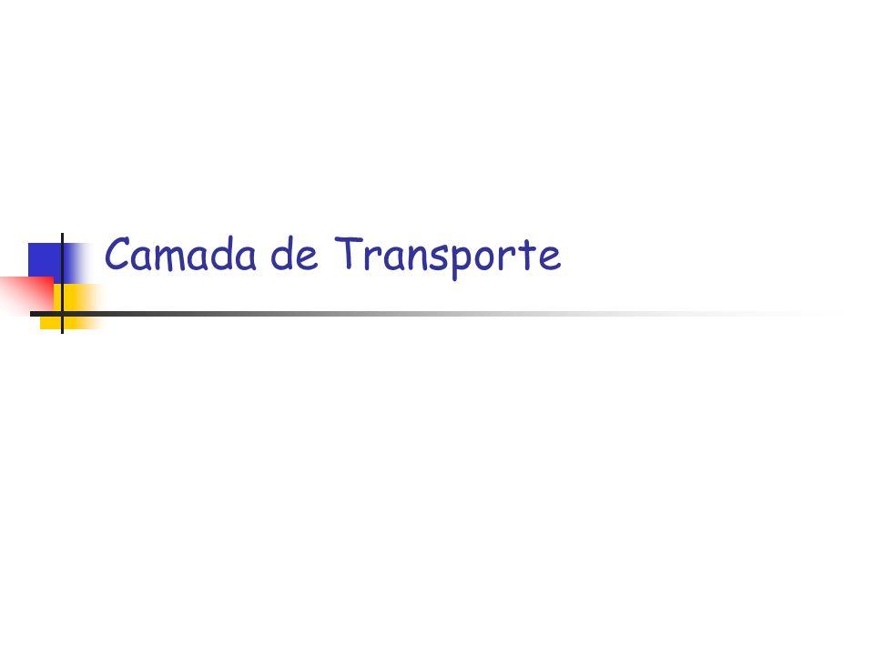 Redes de Computadores 2 (baseado nos slides do Kurose) Princípios da Camada de Transporte funções básicas multiplexação/ demultiplexação transporte de dados confiável controle de fluxo controle de congestionamento Visão Geral serviços da camada de transporte transporte sem conexão: UDP transporte de dados confiável transporte orientado a conexão: TCP controle de congestionamento no TCP