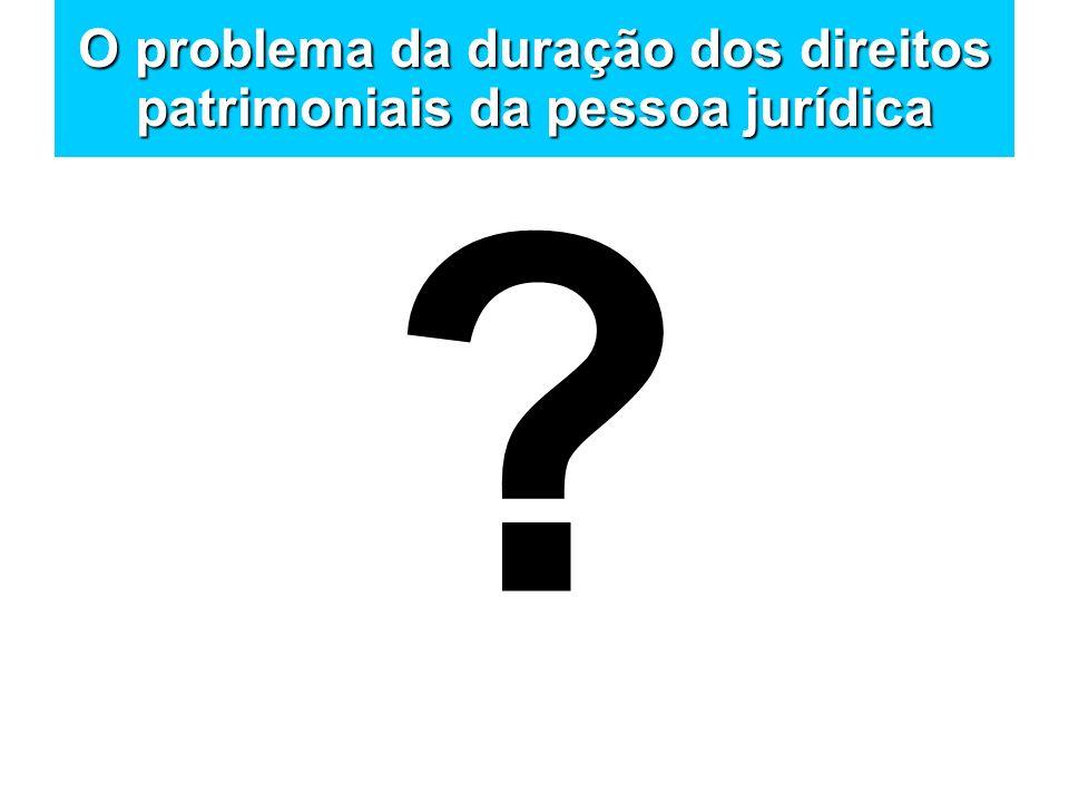 O problema da duração dos direitos patrimoniais da pessoa jurídica ?