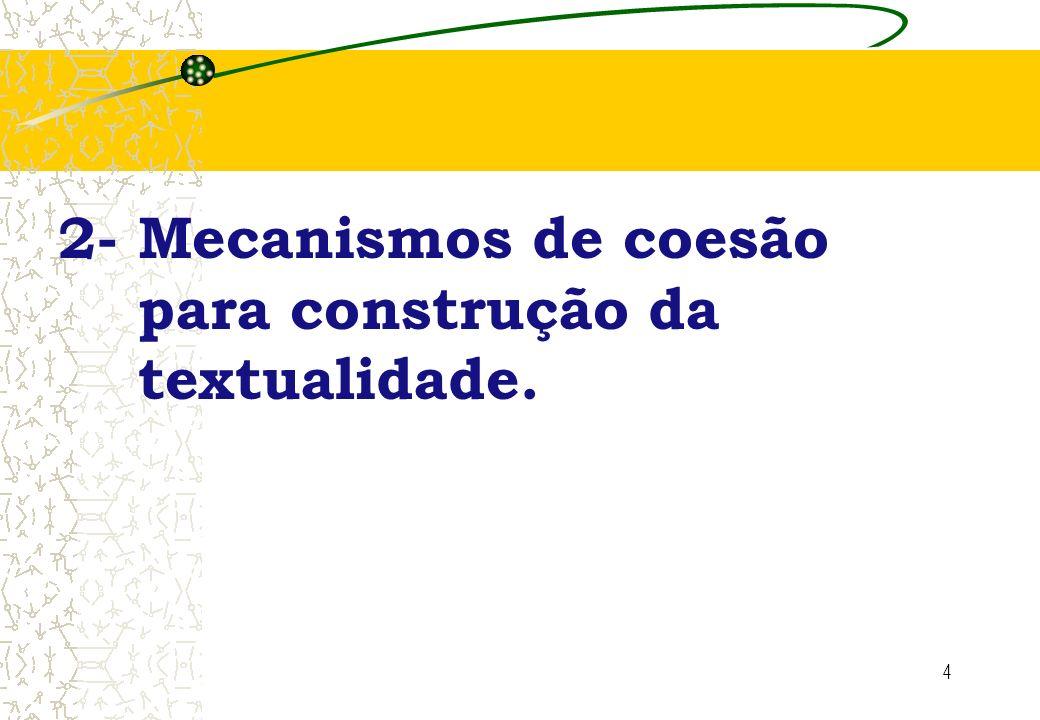 4 2- Mecanismos de coesão para construção da textualidade.