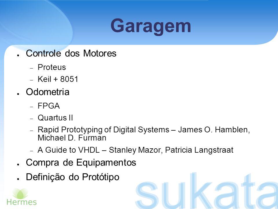 Garagem Controle dos Motores Proteus Keil + 8051 Odometria FPGA Quartus II Rapid Prototyping of Digital Systems – James O. Hamblen, Michael D. Furman