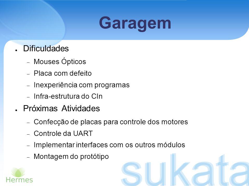 Dificuldades Mouses Ópticos Placa com defeito Inexperiência com programas Infra-estrutura do CIn Próximas Atividades Confecção de placas para controle