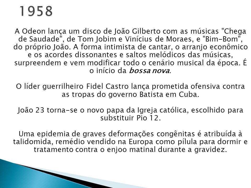 A Odeon lança um disco de João Gilberto com as músicas