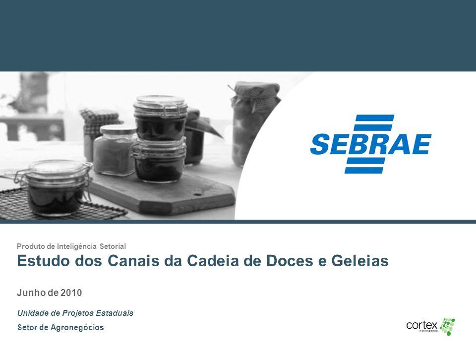 1 Produto de Inteligência Setorial Estudo dos Canais da Cadeia de Doces e Geleias Junho de 2010 Unidade de Projetos Estaduais Setor de Agronegócios