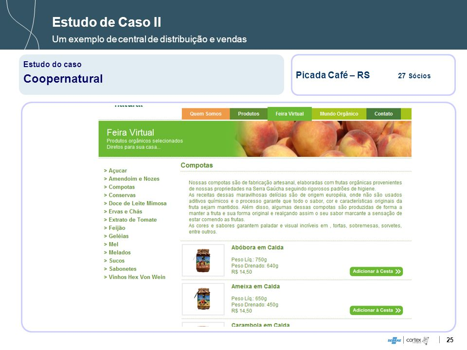 25 Estudo de Caso II Um exemplo de central de distribuição e vendas Estudo do caso Coopernatural Picada Café – RS 27 Sócios